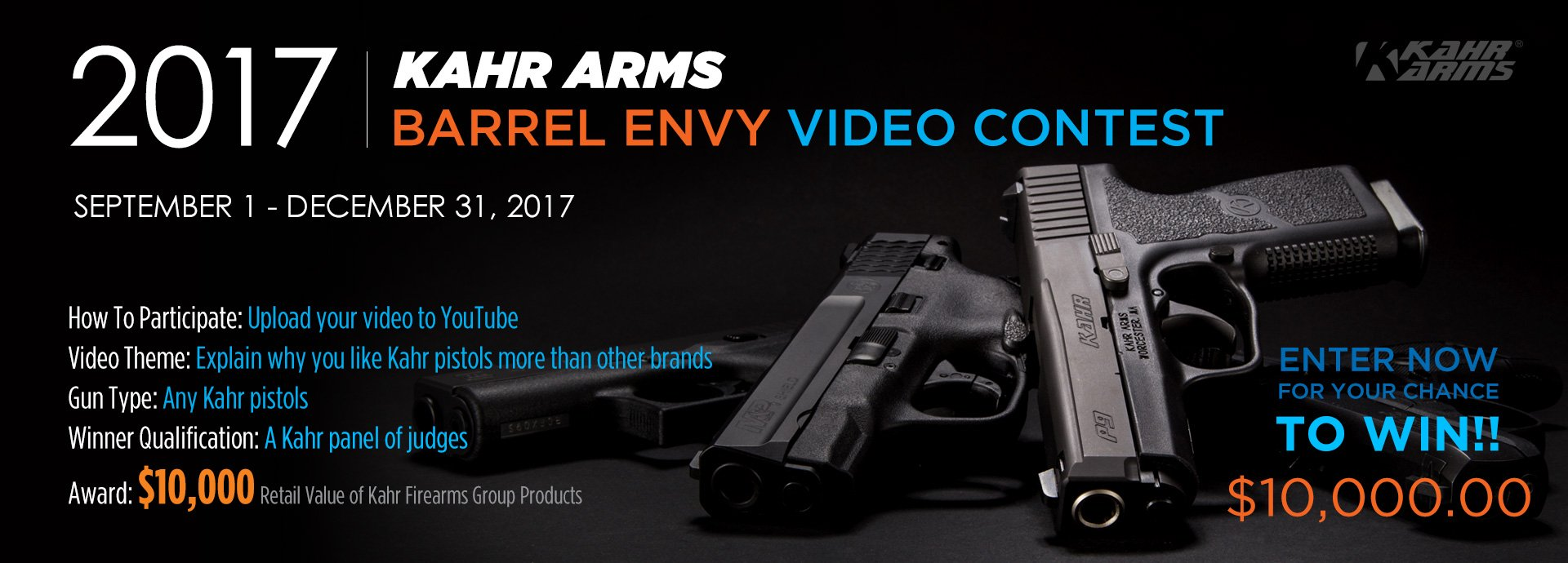Kahr® Arms Kicks Off 2017 Barrel Envy Video Contest - Magnum