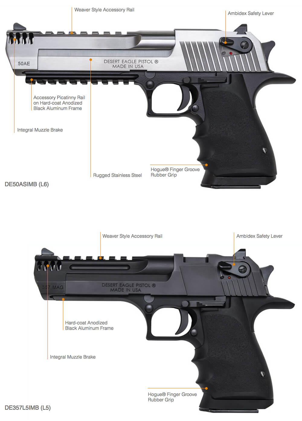 Desert Eagle L6 L5 Magnum Research Inc Desert Eagle