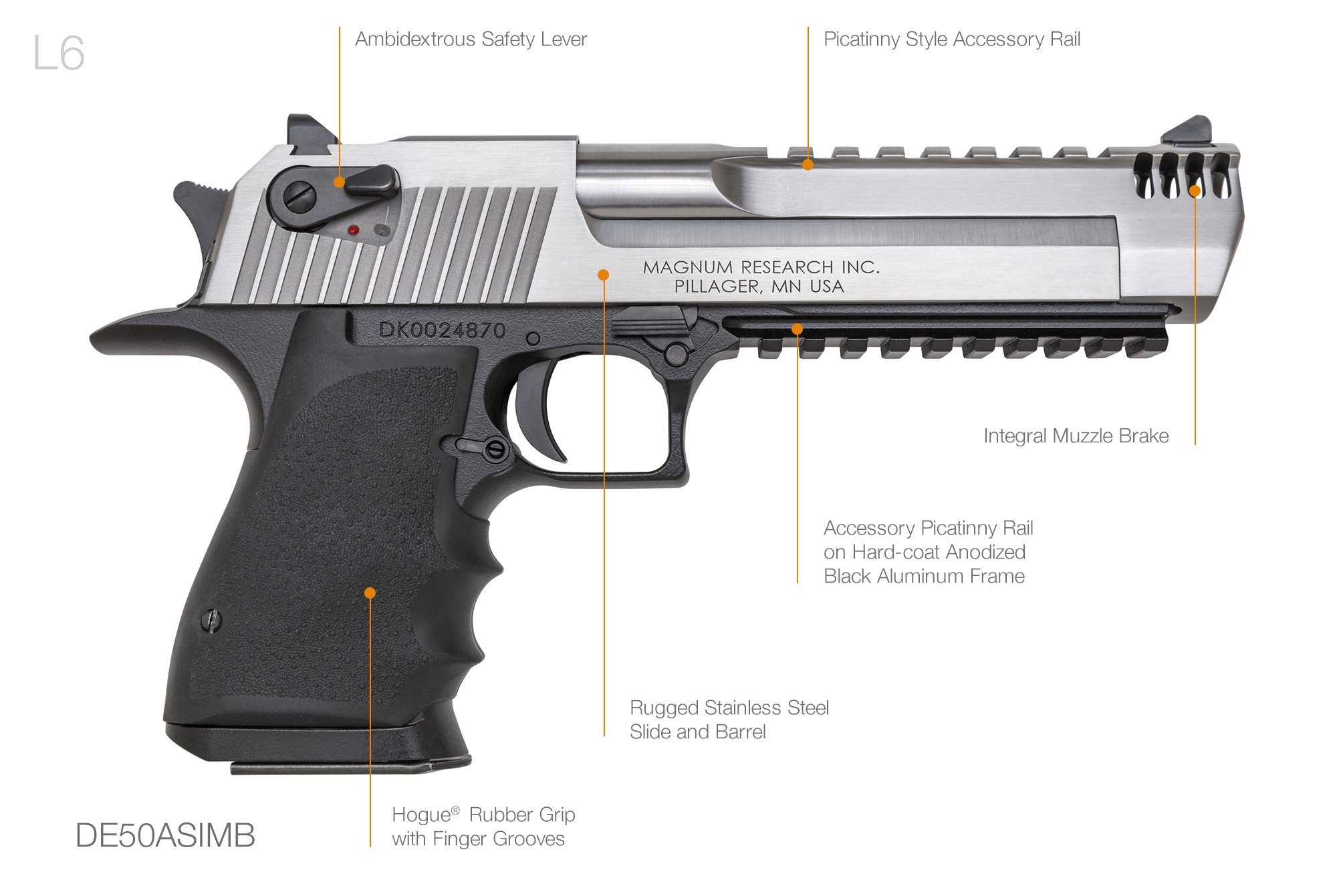 Desert Eagle L6 L5 Magnum Research Inc Desert Eagle